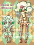 Cottonee Whimsicott Teaser by spiderliing666