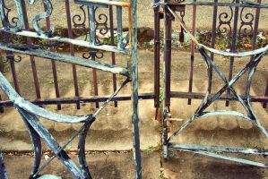 Cemetery gates quietly allowed me to enter by sleepbabie