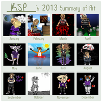 2013 Art Summary by KillerStalkerPerson