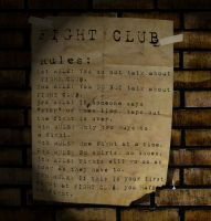 Fight Club: Rules by CainaG