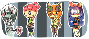 Monster girls {SET 4}{CLOSED} by Eeyrie