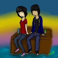 Me, and Gage c: by chibicosplayer