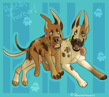 Great Dane Besties by PrincessFrankie
