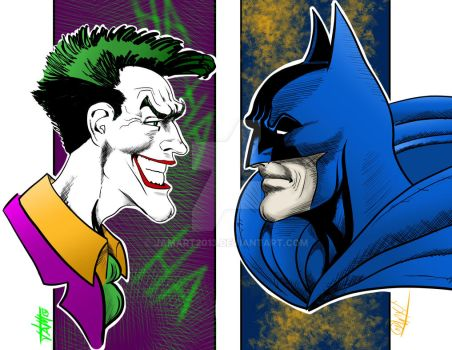 batman / Joker nemesis by jamart2013