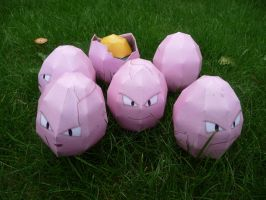 Exeggcute papercraft by dodoman75