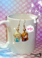 Chibi Frozen Earrings by SentimentalDolliez