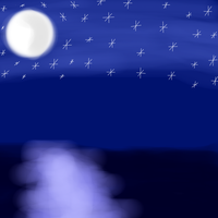 The moon, the stars and the sea (Birthday picture) by Lynnae-Madison