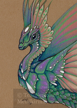 Rainbow Flutter ACEO by thedancingemu