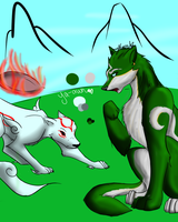 Ammy and Link  Redo by catseathedevil