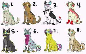 Dog Adopts--3 left by SammyslionAdopts