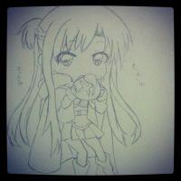 SAO Asuna eating a bun!~ by AliceDol