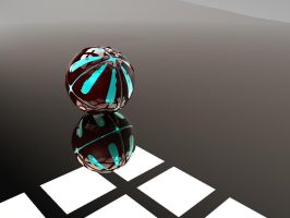 Armoured 3d Ball with glowing core first render by cytherina