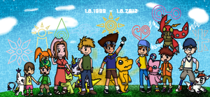 Digimon 13 th anniversary! by tinttiyo
