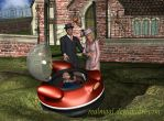 It is a baby in a flying saucer (1of3) by Realmgal