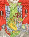 April O'Neil in the Slime Pit by fischgeist