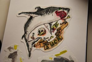 Zombie Shark for Tuck: Final. by megzon
