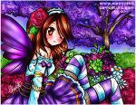 In my Purple forest with flowers by eleoyasha