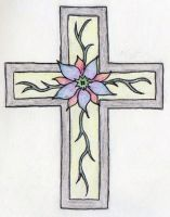 Flowered Cross by ambrotos