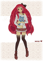 Erza and Happy xD by Dapsse