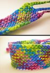 Cool Colors Macrame Bracelet by HattieMcHatterson