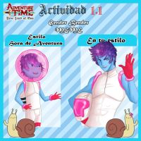 Actividad 1.1 - New Land Of Ooo! Genderbender Auro by Sparkly-Monster
