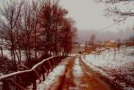 Snowing and walking in the snow... by JorjaJo