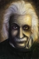 Albert Einstein by Sulphar-Fire