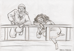 Lifedrawing: Drunken pirates by ph00