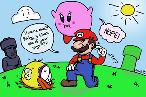 Mario meets flappy bird by Jimarilion