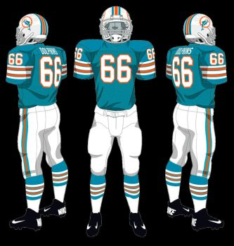 Miami Dolphins Through the Years by CoachFieldsOfNOLA