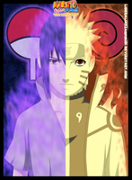 Sasuke Uchiha and Naruto Uzumaki by LiderAlianzaShinobi