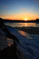 Sunset and Ice by Sagittor