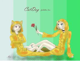 CatDog in anime style by MikaIsLove