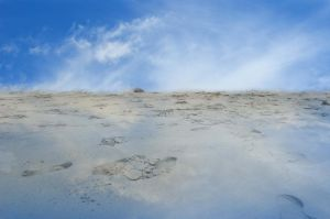 Beach Premade Background Misty Blue Stock  0079 by annamae22