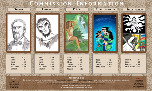 Commissions - Art price list by ks-claw