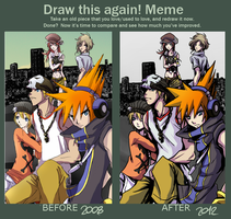 Draw this again meme: Almost a Day by naccholen