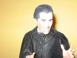 Christopher Lee as Dracula Bust 2 by RoyPrince