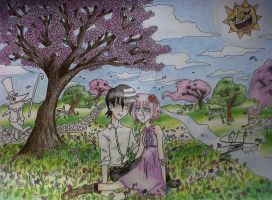 Kid_and_Chrona_spring by PhineasFan1