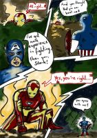 Iron Man vs. Captain America Pg. 1 by Amaterasuscorp1