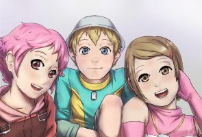Aelita, Tk and Kari - Request for Lyokian by LizUsui