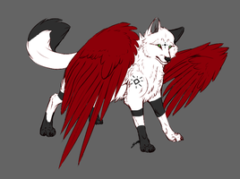 Winged Wolf Point Auction .:CLOSED: by AdoptAllTheThings
