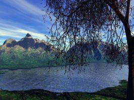 Mountain and Lake by tuestunim
