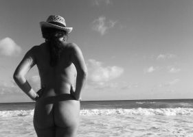 Nude On The Beach VII by Grey8Wolf