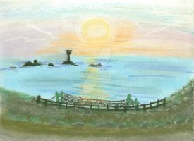 Sundown at Lands End by clare13