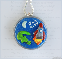 Alligator Sky Pendant by Comsical