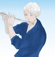 Flute playing Gil by Waitingforspring