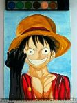 One Piece, Luffy by Bxlt
