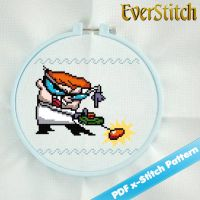 Dexter from Dexter's Laboratory Cross Stitch by EverStitch