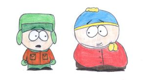 Cartman and Kyle by Hime-Murasaki