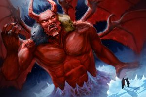 Dantes Inferno Lucifer by Davesrightmind